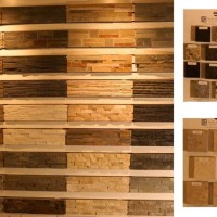Dracme Real Stone panels display, along with displays from International Marble Corporation and European Stone Concepts.