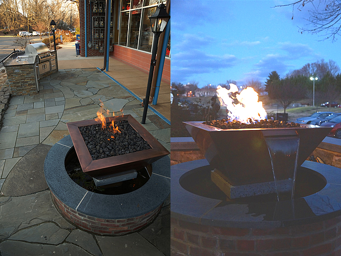 Patio fire and water