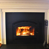 High efficiency wood-burning fireplace