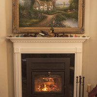 Supreme Wood-burning Fireplace with Granite Surround and Hearth