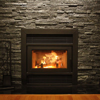 BIS Ultima Contemporary Wood-burning Fireplace Stone Surround