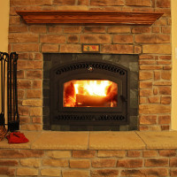 BIS Tradition CE Wood-burning Fireplace with Tile Surround