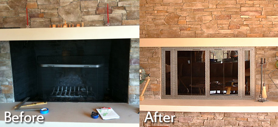 Fireplace Replacement Doors beautiful gas fireplace doors ideas - interior design ideas