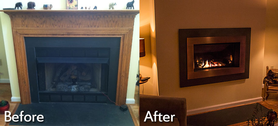 Fireplace Installations Charlottesville, Richmond, VA | Wooden Sun