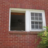 New window on the right; hole on the left!