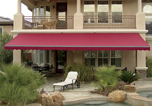 Relax by the pool. Awning by Eclipse.