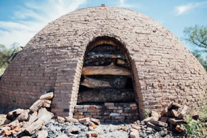 Traditional charcoal kiln. Image courtesy of Kamado Joe.