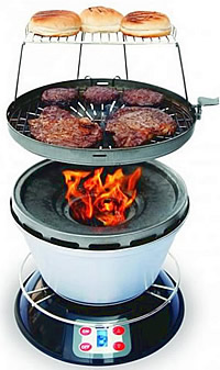 Portable Cook-Air Wood Grill