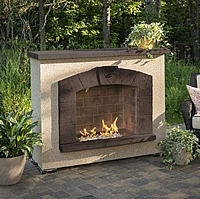 Outdoor GreatRoom Stone Arch